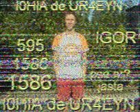 Slow-scan television image from UR4EYN in the Ukraine